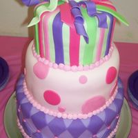 Cake1.jpg   This cake was all MMF made for my daughter's 2nd birthday. I got the idea from several of the cakes on this board...thanks!