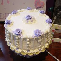 Bridal Shower Cake- Raspberry Mouse Filling My design for a bridal shower for my friend.