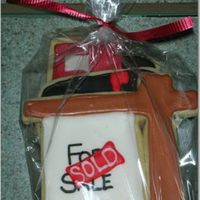 "New House First time decorating cookies - it went great! Don't have a good pic of all of them, but there's the ""for sale"" sign, a..."