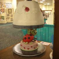 Ladybug Lamp - State Fair I've been meaning to upload this forever - here's the dummy cake I did for the SC State Fair this past year - sorry it's...