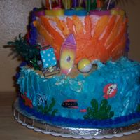 Two Sided Cake- Sd1- Beach Theme