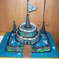 "Haunted Castle the customer sent me a photo of a similar cake, but i told her i don't copy other people's work...she said i could ""make it..."