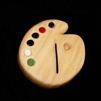 Artist Palette   Carved to look like a artist palette....covered in fondant and airbrushed detail.