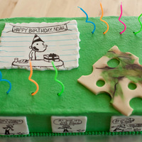 Diary Of A Wimpy Kid Buttercream with fondant accents