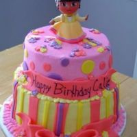 Dora Buttercream iced, fondant accents. AshV design.
