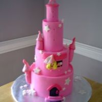Pink Castle Fondant Castle - Debbie Brown design
