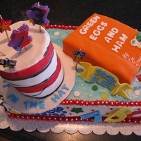 Dr. Seuss Cake   Dr. Seuss Theme Cake for Celebration at School and Child Birthday. Butter cream with fondant accents