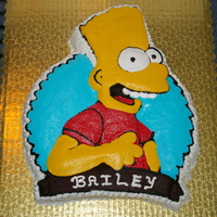 Bart Simpson This cake and icing was for a boy with a lot of food restrictions. He was trilled to have a decorated birthday cake.