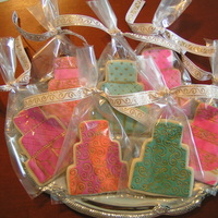 Wedding Cookies Fondant Covered Cookies - Impression Design and Hand painted