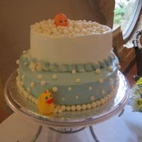 Baby Bath This was a really fun cake to make. I made the invitations also and they had a baby in a bath tub on them with bubbles all over. My bathtub...