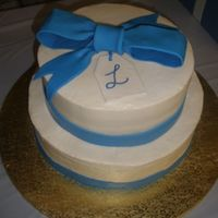 Blue And Ivory This was my first little wedding cake of the year (only my second one ever). I had a few mishaps and its definitely not my favorite cake...