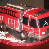 3-D Firetruck I am new to cake decorating and this is only my second 3-D cake. I used MMF and carved the cake to be a replica of the actual truck used my...