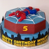 Spiderman Cake This birthday cake was so much fun! Thanks to all the great CC idea's & especially sillyoldpoohbear for her inspiration. I would...
