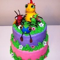 Miss Spider's Sunny Patch Friends Cake This was a small tiered cake for a 2 yr. old who loves Miss Spider. I had matching cupcakes to go alond with this order. I was a little...