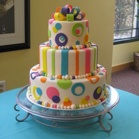 Fun Colors   This is a display cake that I made for an open house event.