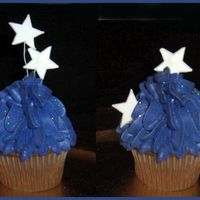 Starry Night Cupcakes   More cupcake practice for portfolio.