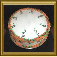 Pumpkin Patch Border I made this for a friend's home interior party. She wanted a Fall/Halloween themed cake.