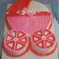 Baby Carriage Cake This was very quick and simple to do.