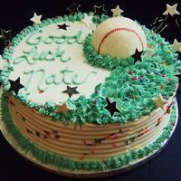 Baseball Fan Iced in Rich's Bettercream with fondant accents and fondant covered baseball. Used edible ink marker for the baseball stitching. This...
