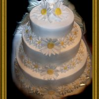 "Practice ""wedding"" Cake This was my first ever stacked cake. I wanted to get some practice in with this ""wedding cake"" so I will be confident when that..."