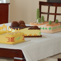 Cruising From Sask To Phx Through Sd a trio of birthday cakes for 60th birthday.