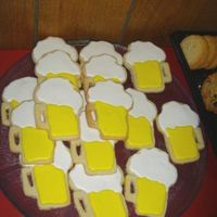 Beer Mug Cookies  This was my first attempt at decorating cookies using the tutorial and recipes on this site (No Fail Sugar cookies and Royal Icing). I made...