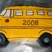 School Bus Just a quick, simple little cake I threw together so that my boys could invite a few neighbor kids over one Saturday for a back to school...