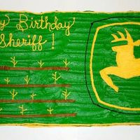 John Deere This was for our county sherriff's birthday party. He loved John Deere and farming. It was a quick cake so not a lot of time for...