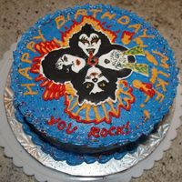 Kiss Birthday Cake Had a lot of fun making this KISS birthday cake for my husband! I made the face outlines using the Wilton color-flow method, then drew on...