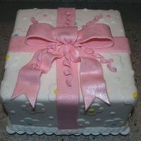 Gift Box Cake My second Wilton Course 3 gift box cake...