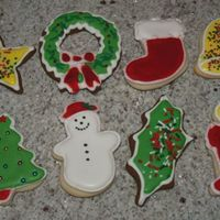 Holiday Cookies Shaped cookies decorated with royal/color flow icing