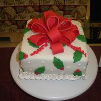 Holiday Gift Box Cake A twist on the Course 3 gift box cake!