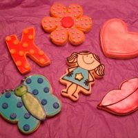 Kaitlin's Birthday Cookies These cookies were for my son's grade school sweetheart. I made them to match the stickers that I used on the glass flower pot that I...
