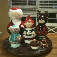 Gingerbread Matryoshka Dolls These were the gingerbread dolls I made for the National Gingerbread Competition this year. The structure of the dolls are entirely made of...