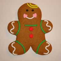 Gingerbread Boy   I made these gingerbread cookies for all the staff and teachers at the school my children attend.
