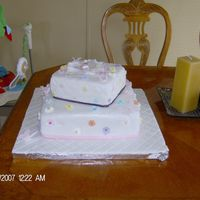 Daughters Baby Shower Cake   Made with fondant and royal ricing