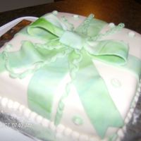 Wilton Course 3   Package cake with a pretty swirl bow