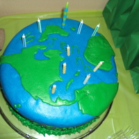 Earth Day Birthday Cake