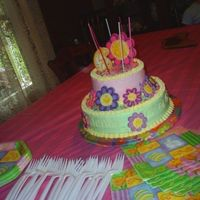 Jenna's 6Th Birthday  I had so much fun making this cake. The original idea cake from the Wilton yearbook from a couple of years ago. I changed the colors and...