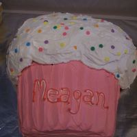 Megs 8Th Birthday My first cake with homemade frosting! I used the Buttercream Dream recipe from this website. Thank you AgentCakeBaker - you recipe is...