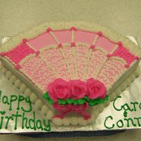 Mother's Day This cake was done in class for mothers day. It was turned into a birthday cake for two coworkers.