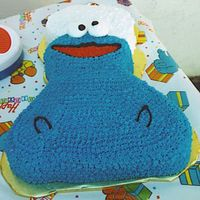 Cookie Monster   This is one of the 4 cakes I did for my Godson Noah's 1st birthday.