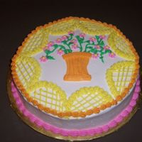 Spring Ish Cake I made this cake for class. This is the design the instructor picked out.