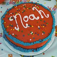 Mini Cake This is the cake the Birthday boy got to demolish.