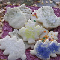 Leaf Cookies Sugar cookie dough and naturally colored sugars from Whole Foods
