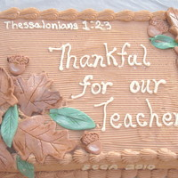 Thanksgiving/thankful For Teachers