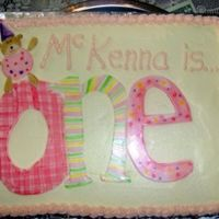 Mckenna's 1St B-Day   Handpainted mmf to match invitations and thank you cards