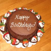 Chocolate, Chocolate, Chocolate   I made this cake for a girlfriend. We are sharing it today, we have the same birthday!