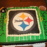 Steelers Cake Superbowl cake