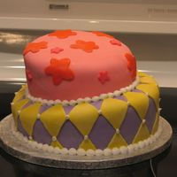 Tilted Cake   This was for my daughters 9th birthday. It was my first attempt but certainly not my last. Thanks for all of the great advice!